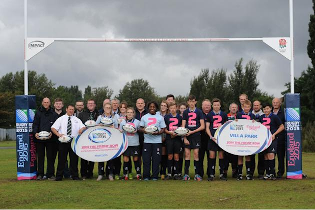Rugby Union - 2015 Rugby World Cup Photocall To Mark Two Years To Go -Twickenham Park