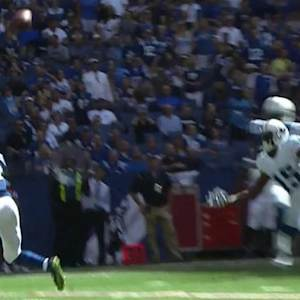 Tennessee Titans quarterback Charlie Whitehurst intercepted by Indianapolis Colts safety Mike Adams