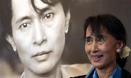 Myanmar opposition leader Aung San Suu Kyi tours the Nobel Peace centre in Oslo June 16, 2012. REUTERS/Cathal McNaughton