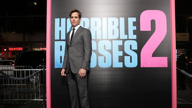 "Chris Pine seen at the Los Angeles Premiere of New Line Cinema's ""Horrible Bosses 2"" on Thursday, Nov 20th, 2014, in Los Angeles. (Photo by Eric Charbonneau/Invision for Warner Bros./AP Images)"