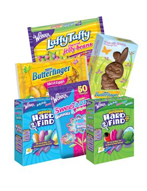 NEW FOR EASTER 2014: Moms to Make Stand-Out Easter Baskets or Egg Hunts with NEW SweeTARTS Gummies & Jelly Beans Pouches, WONKA Hard2Find Egg Hunt and More!