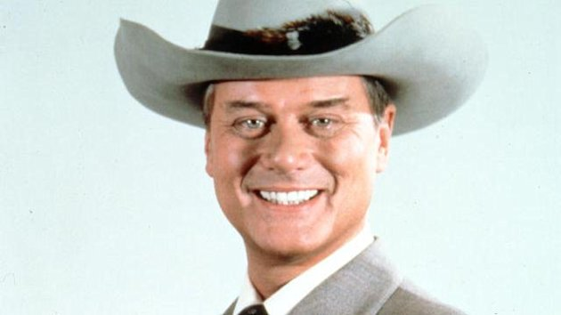 "This 1981 file photo provided by CBS shows Larry Hagman in character as J.R. Ewing in the television series ""Dallas."""