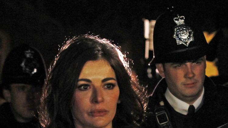 Celebrity chef Nigella Lawson leaves Isleworth Crown Court in west London