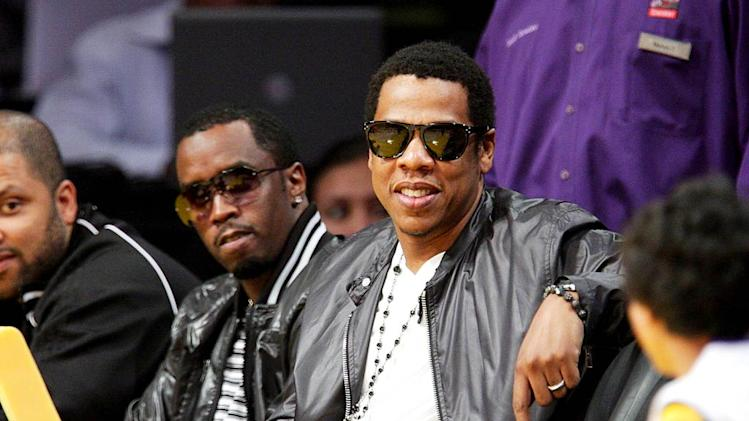 JayZ Diddy Lakers Game