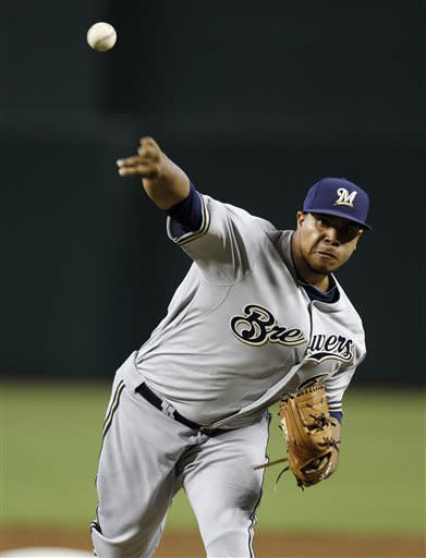 Brewers beat D-backs 5-1 to end slide at 4 games