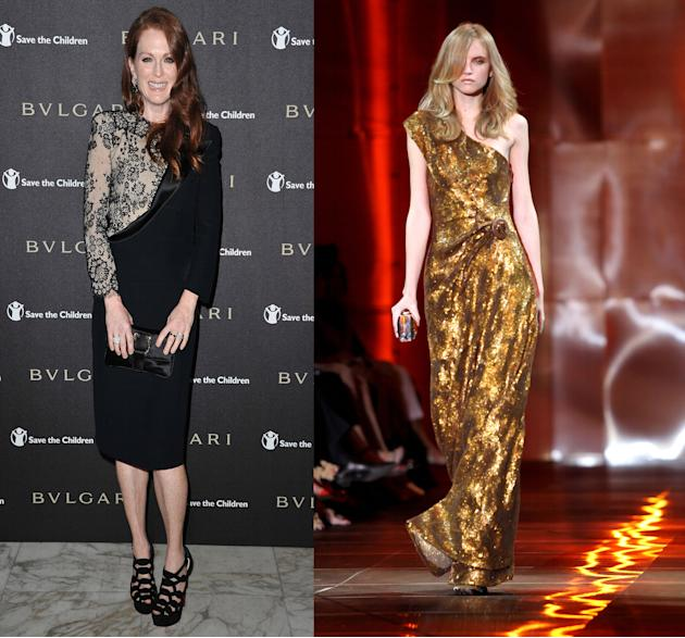 Julianne Moore and Giorgio Armani Prive