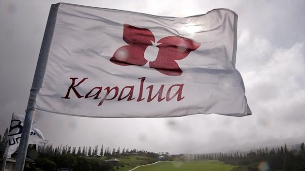 A Kapalua flag blows after Saturday play of the Hyundai Tournament of Champions was cancelled due to high winds at the Plantation Course on January 5, 2013 in Kapalua