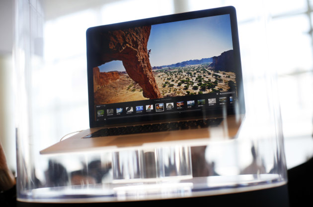The new Macbook Air Pro is pictured during the Apple Worldwide Developers Conference 2012  in San Francisco