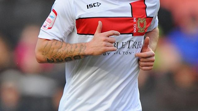 Charlie MacDonald scored 11 goals in 45 appearances for MK Dons