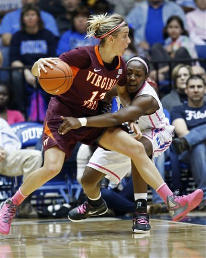 Liston scores 17, No. 5 Duke women beat Va. Tech