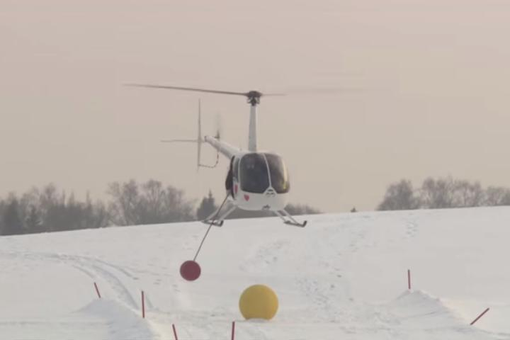 Here's How You Play Golf With A Helicopter