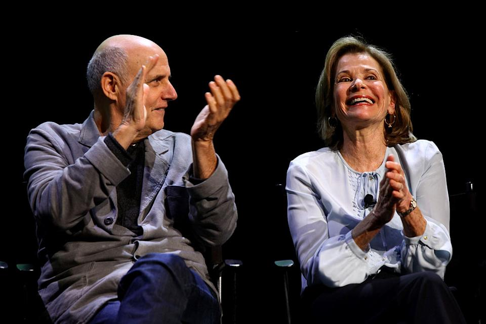 "Jeffrey Tambor and Jessica Walter attend The 2011 New Yorker Festival: ""Arrested Development"" Panel at Acura at SIR Stage37 on October 2, 2011 in New York City."