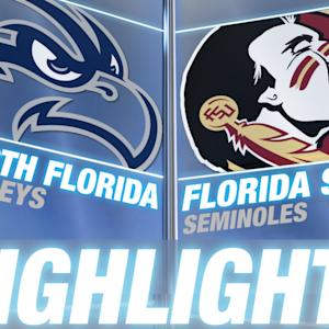 North Florida vs Florida State | ACC Men's Basketball Highlights