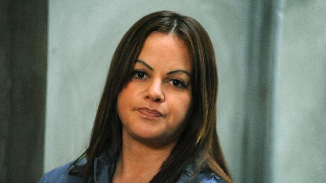 """In this photo released Monday, Dec. 10, 2012, by Indomina Media, shows singer and actress Jenni Rivera during the filming of her upcoming movie """"Filly Brown.""""  The film """"Filly Brown"""" is expected to be released on the Spring of 2013. Rivera's life was cut short at its peak on Sunday by an airplane crash in northern Mexico that also killed six friends and co-workers. (AP Photo/Indomina Media)"""