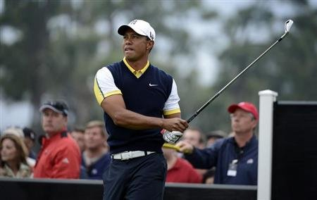 Tiger Woods of the U.S. hits the ball at the 9th tee during second round play in the Honda Classic PGA golf tournament in Palm Beach Gardens, Florida March 1, 2013. REUTERS/Doug Murray