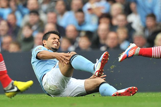 Sergio Aguero has been injured since City's match with Southampton in August