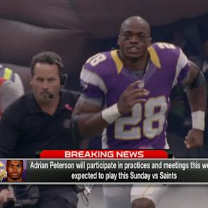 NFL Media Insider Ian Rapoport: Minnesota Vikings running back Adrian Peterson 'did discipline his son'