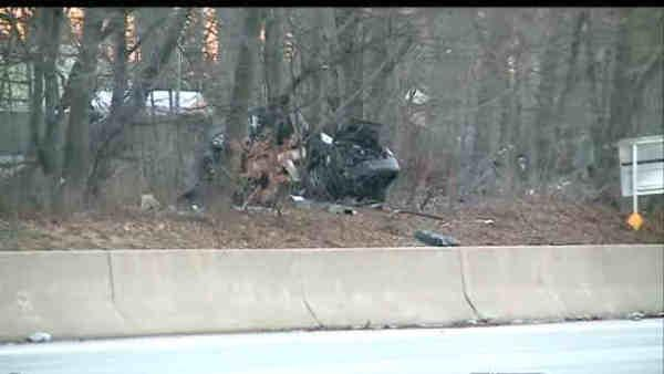 What caused Sunday accident to occur on Southern State Parkway?