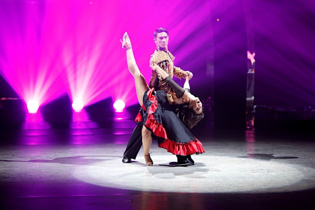 "Marko Germar and All-Star dancer Janette Manrara perform a Paso Doble routine to ""Zorongo,"" choreographed by Dmitry Chaplin on ""So You Think You Can Dance."""