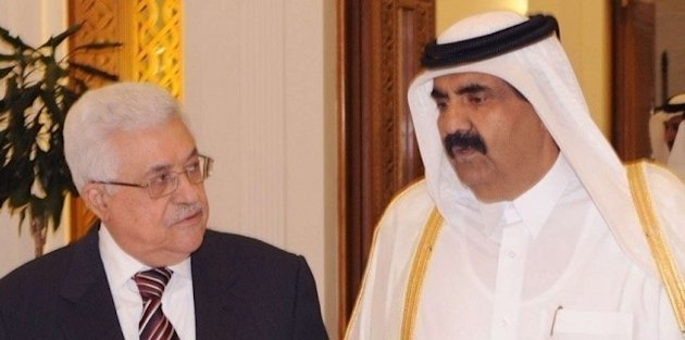 Mahmoud Abbas et cheikh Hamad Ben Jassem Al-Thani qatar