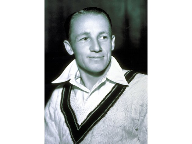 Oct 1934: Sir Donald Bradman of Australia in his Test kit. Images: Getty