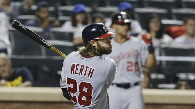 Werth's HR, 2 doubles lead charging Nats past Mets