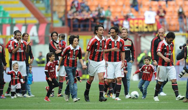 (From C) AC Milan's Filippo Inzaghi, Alessandro Nesta And Gennaro Gattuso Walk On The Pitch At The End Of The Italian AFP/Getty Images