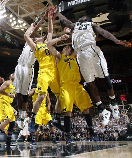 No. 9 Michigan State beats No. 23 Michigan 64-54