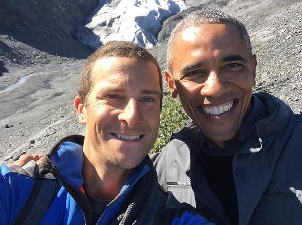 Barack Obama Takes A Selfie With Bear Grylls And Makes The Ultimate Dad Joke