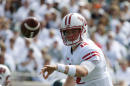 Wisconsin quarterback Alex Hornibrook pitches the ball during the first quarter of an NCAA college football game against Michigan State, Saturday, Sept. 24, 2016, in East Lansing, Mich. Wisconsin won 30-6. (AP Photo/Al Goldis)