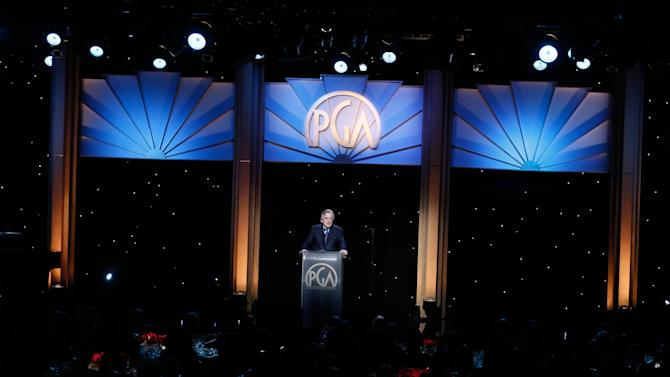 Robert De Niro onstage at the 24th Annual Producers Guild (PGA) Awards at the Beverly Hilton Hotel on Saturday Jan. 26, 2013, in Beverly Hills, Calif. (Photo by Todd Williamson/Invision for The Producers Guild/AP Images)