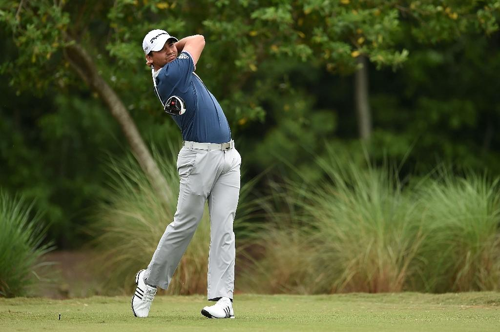 Day trails clubhouse leader Stuard in rain-hit Zurich Classic