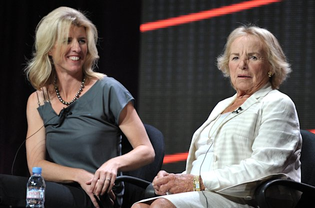 Director Rory Kennedy, left, and Ethel Kennedy appear onstage during HBO&#39;s TCA panel for &quot;Ethel&quot; at the Beverly Hilton hotel on Wednesday, Aug. 1, 2012, in Beverly Hills, Calif. Ethel Kennedy and her daughter, Rory, spoke to the Television Critics Association about Rory Kennedys documentary Ethel, which will air Oct. 18 on HBO. (Photo by John Shearer/Invision/AP)
