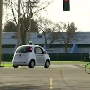 Self-driving cars with passengers inside almost crash