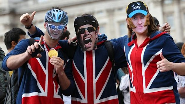 Olympics 2012 Team Britain Fans Froome, Cavendish, Wiggins