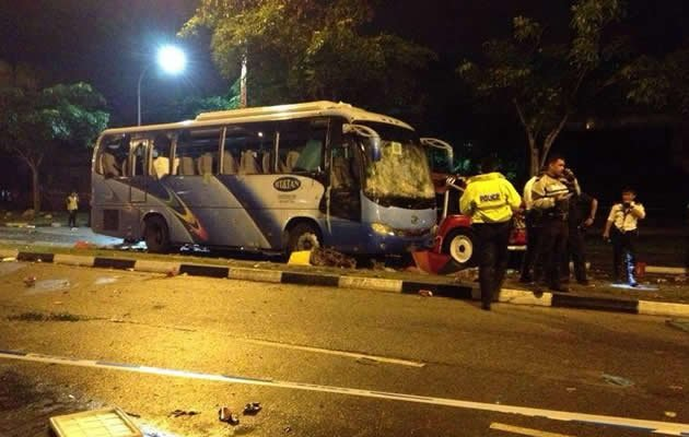 The 33-year-old Indian national who died in the fatal accident that triggered a riot in Little India was drunk, said Singapore police as fresh details emerged in the aftermath of Singapore's first riot in over 40 years. (Martin Phneah photo)