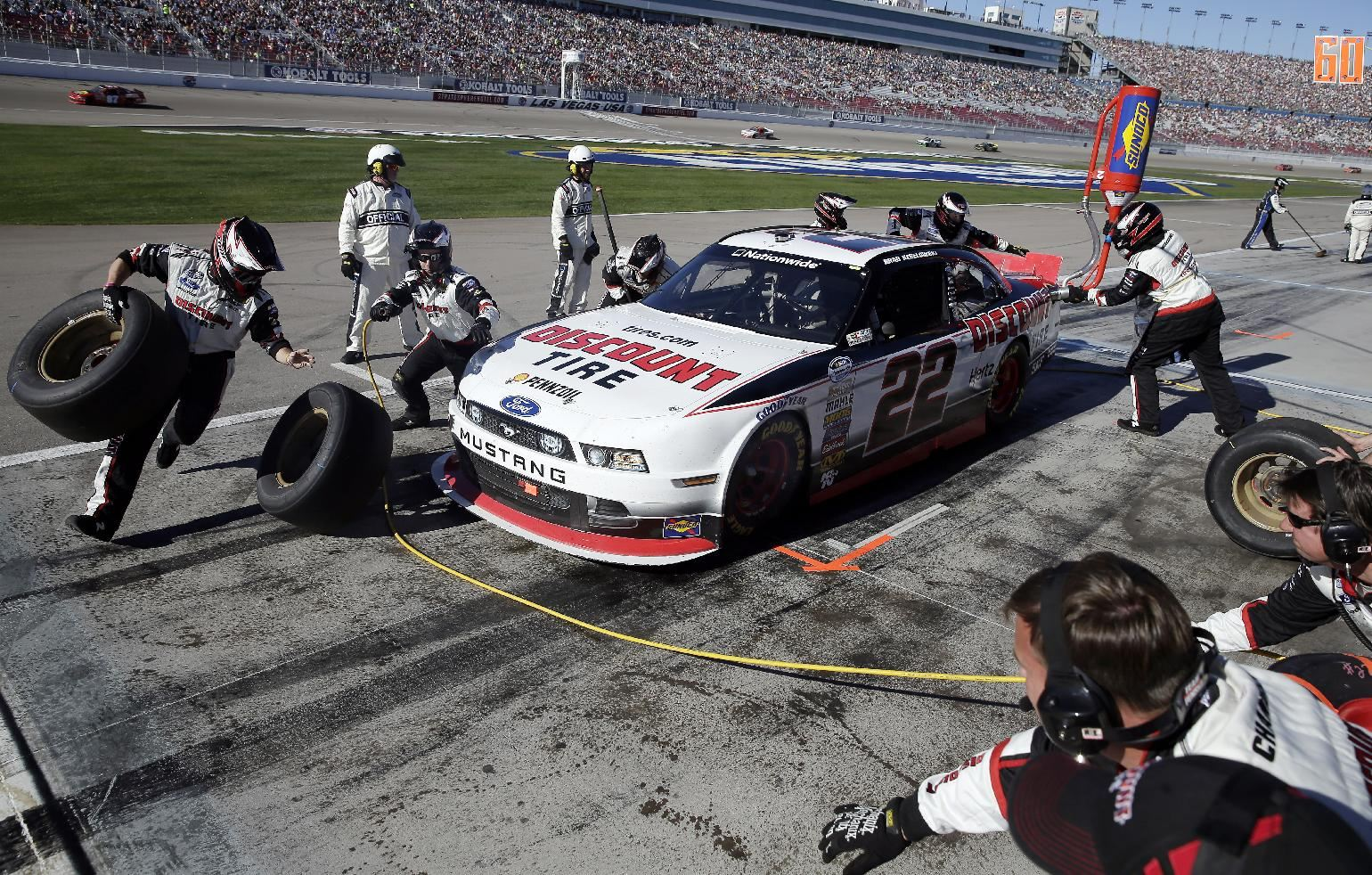 March 8, 2014, in Las Vegas. Keselowski won the race. (AP Photo/Isaac