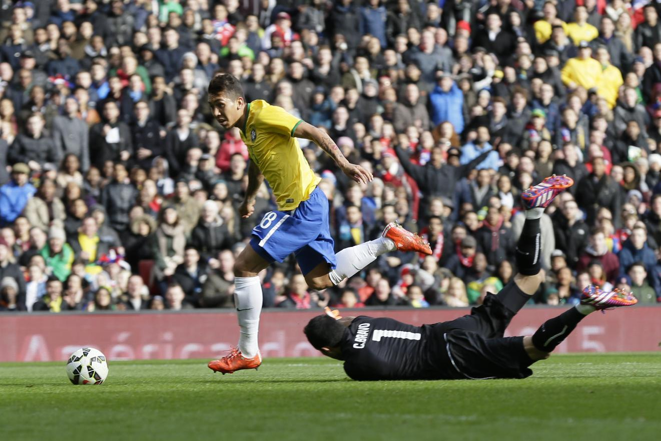 Firmino earns Brazil 1-0 win over Chile in friendly match