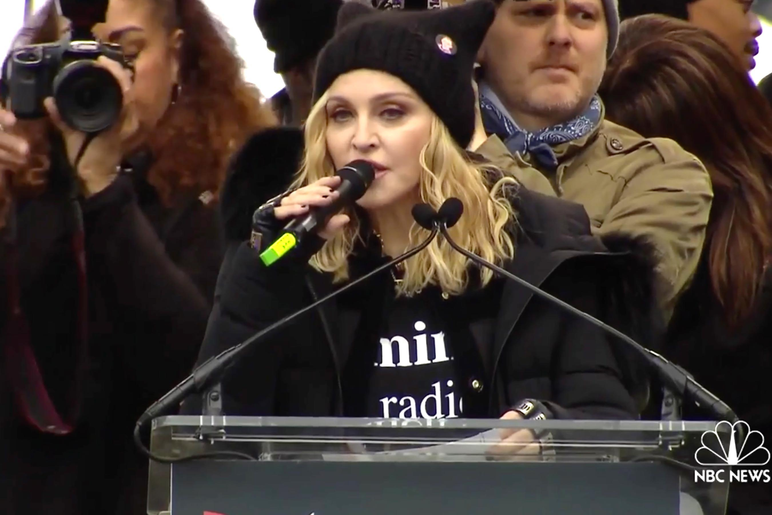 Madonna to Women's March detractors: 'F— you'