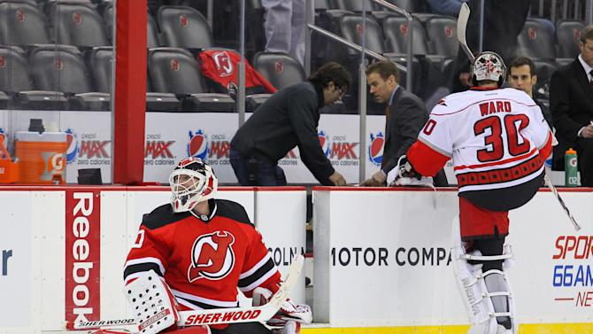 NHL: Carolina Hurricanes at New Jersey Devils