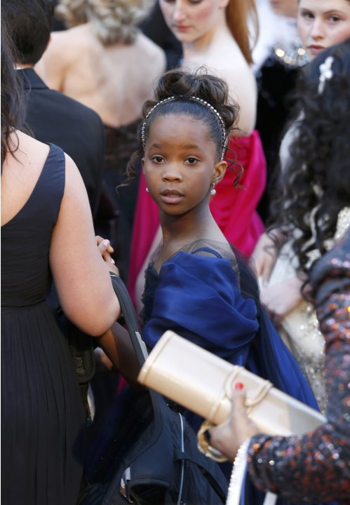"Quenzhane Wallis, best actress nominee for her role in ""Beasts of the Southern Wild"", arrives at the 85th Academy Awards in Hollywood"