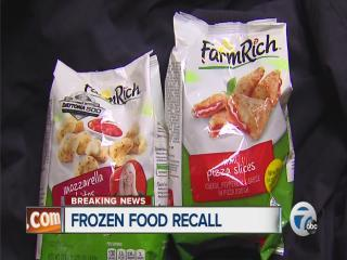 Frozen food recall