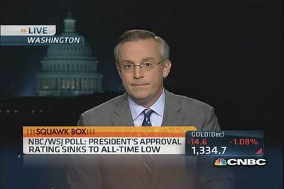 NBC-WSJ poll: 'Scary numbers' for President Obama