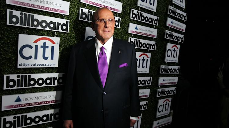 Clive Davis, Billboard Musical Visionary Award honoree, arrives at Billboard's 2013 Power 100 List event at The Redbury, Thursday, Feb. 7, 2013, in Los Angeles. (Photo by Matt Sayles/Invision/AP)