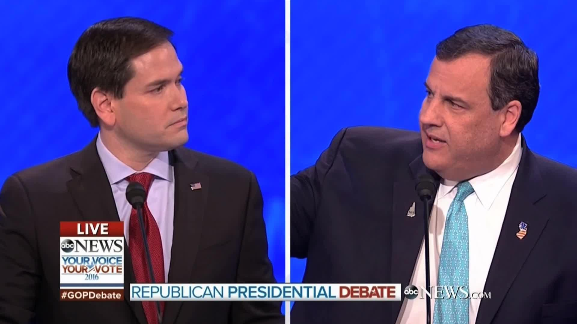 Chris Christie's attacks rattle Marco Rubio