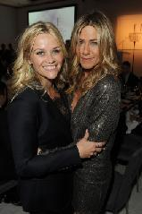 Reese Witherspoon and Jennifer Aniston attend ELLE's 18th Annual Women in Hollywood Tribute held at the Four Seasons Hotel in Los Angeles on October 17, 2011  -- Getty Images