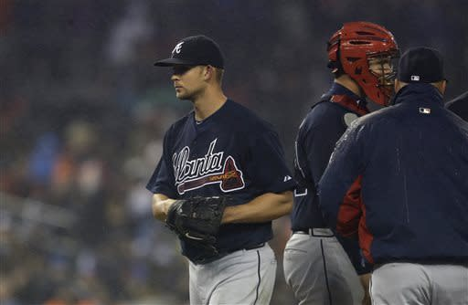 Tigers beat Braves 8-3 for 3-game sweep