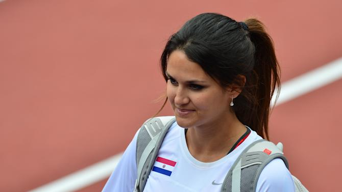 Paraguay's Leryn Franco is pictured duri
