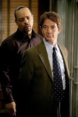 "Ice-T as Detective Odafin ""Fin"" Tutuola and Martin Short as Sebastian Ballentine NBC's""Law and Order: Special Victims Unit"" Law & Order: Special Victims Unit"