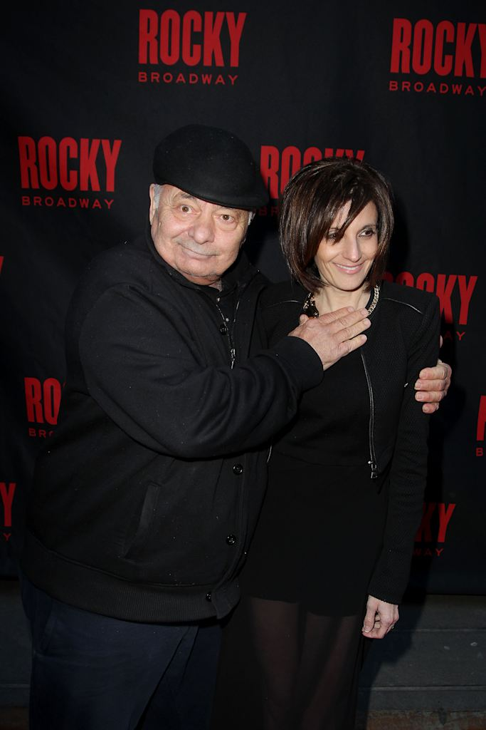 This image released by Starpix shows actor Burt Young, left, and Lisa ...